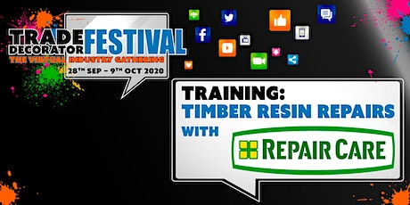 Training: Timber Resin Repairs with Repair Care tickets