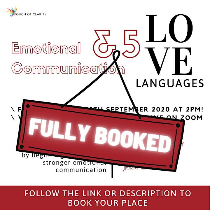 Emotional Communication & 5 Languages of Love - Virtual Live Workshop image