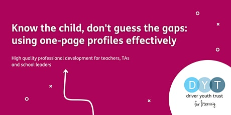 Know the child, don't guess the gaps: using one-page profiles effectively tickets
