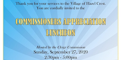 Commissioners Appreciation Luncheon tickets