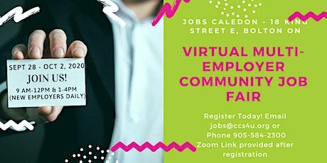 FREE : Virtual Multi-Employer Job Fair (Sep 28 - October 2, 2020) tickets