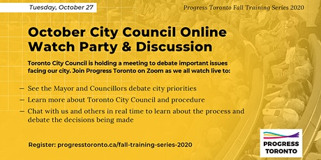 Fall Training Series: October City Council Online Watch Party & Discussion tickets