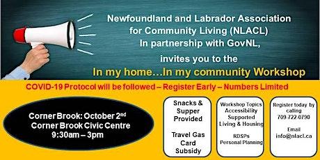 In My Home - In My Community 2020  Corner Brook tickets