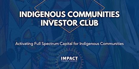 Indigenous Communities Investor Club Launch tickets