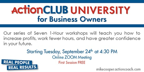 ActionCLUB  for Business Owners - FREE PREVIEW  #1  - 6  Keys to Thrive NOW tickets