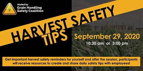 GHSC Harvest Safety Tips, A Virtual Event tickets