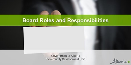 Board Development Program - Board Roles and Responsibilities Webinar tickets