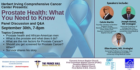 Prostate Health: What You Need to Know tickets