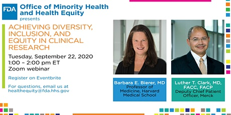 Achieving Diversity, Inclusion, and Equity In Clinical Research tickets