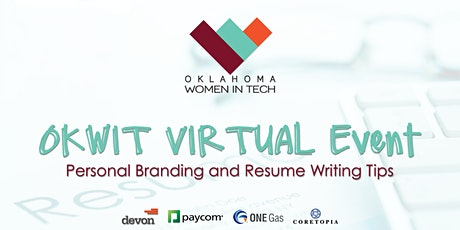 OKWIT Virtual Event: Personal Brand and Resume Writing Tips tickets