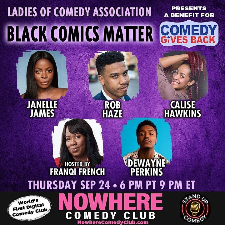 Black Comics Matter: a Benefit for Comedy Gives Back image