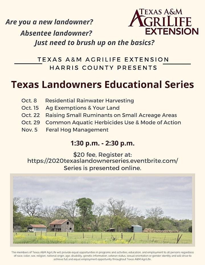 Texas Landowners Educational  Series image