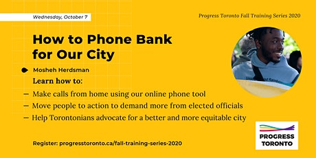Fall Training Series: How to Phone Bank for Our City tickets