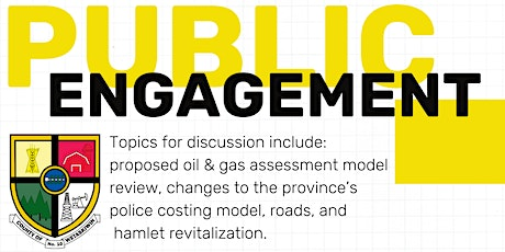 County of Wetaskiwin Citizen Engagement in Alder Flats: Session 1 tickets