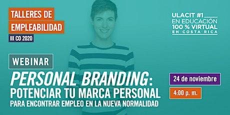 Personal Branding: potenciar tu marca personal para encontrar empleo ahora tickets