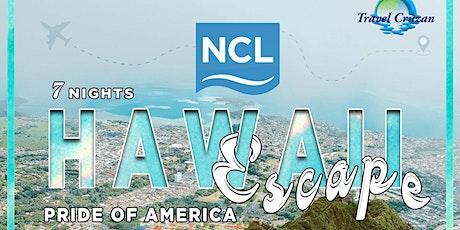 Norwegian Cruise 2021 - Hawaii Escape tickets