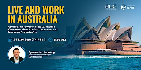 LIVE and WORK in Australia [FREE Virtual Information Session with AUG] tickets