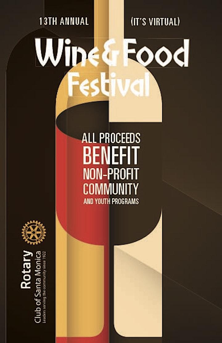 Rotary Club of Santa Monica 's 13th Annual (Virtual)  Wine & Food Festival image