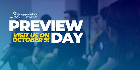 Apprentice University Preview Day: October 2020 tickets