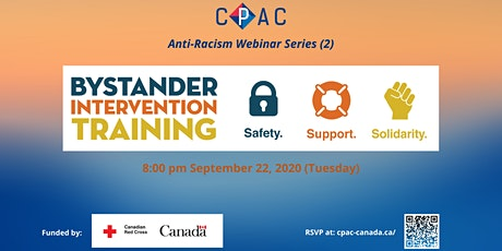 CPAC Anti-Racism Webinar Series (2): Bystander Intervention Training tickets