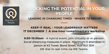 Keep it Real - Your Leadership Matters tickets