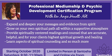 Professional Mediumship certification program tickets
