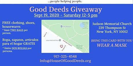 House of Good Deeds Giveaway - Clothing, Shoes, Housewares - Free! tickets