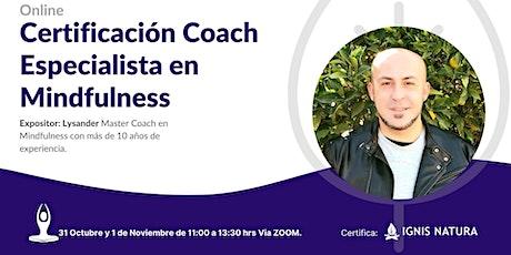 Curso Online Certificado Coach Especialista en Mindfulness - Octubre entradas