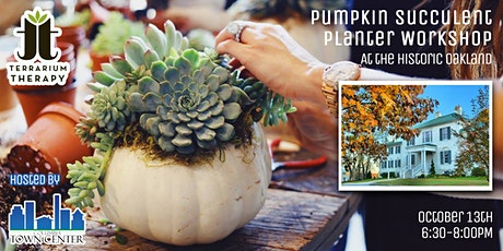 In-Person Workshop - Pumpkin Succulent Planter at Historic Oakland tickets