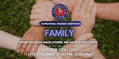 Speaker Slam - Family tickets