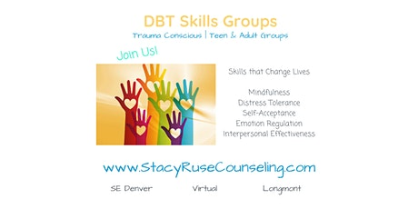 Weekly DBT Skills Group for Addictions - Online tickets