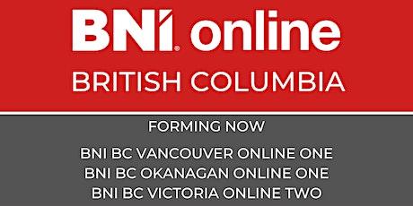 Discover BNI British Columbia  Online tickets