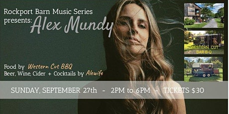 Rockport Barn Music Series: Alex Mundy tickets