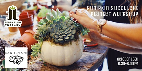 In-Person - Pumpkin Succulent Workshop at Basignani Winery tickets