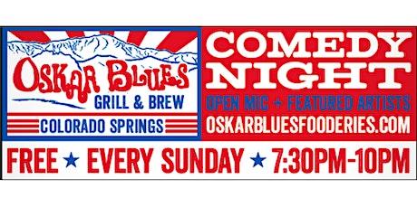 Oskar Blue's Comedy Night tickets