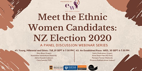 Meet the Ethnic Women Candidates: NZ Election 2020 - Panel Discussion #1 tickets