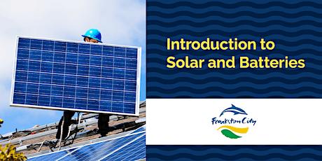 Introduction to Solar & Batteries Webinar - Frankston City Council tickets
