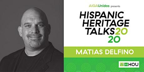 AIGA Unidos presents Hispanic Heritage Talks 2020: Matias Delfino tickets