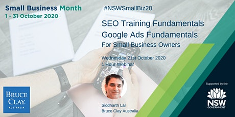 Google Marketing: SEO  and Google Ads Fundamentals tickets