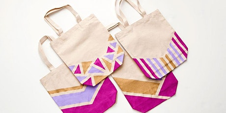 Design your own canvas tote bag tickets