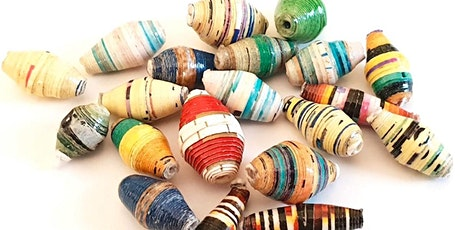DIY paper beads wall hanging tickets