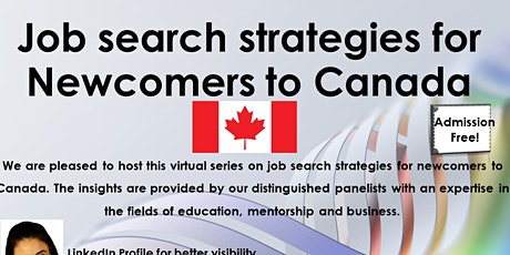 Job search strategies for Newcomers to Canada tickets