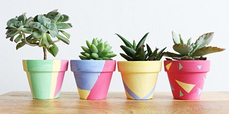 Decorate your own pot plants tickets
