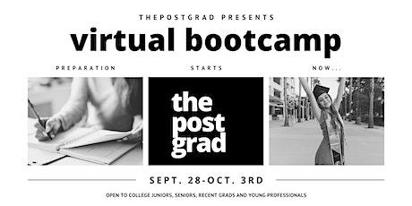 Post Grad Virtual Bootcamp tickets