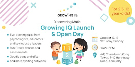 Discovering Math: Growing IQ Launch and Open Day for Parents & Kids tickets