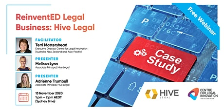 ReinventED Legal Business: The Case Studies -  Hive Legal tickets