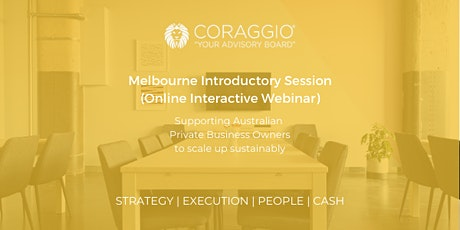 Coraggio Introductory Session, Melbourne (Online) tickets