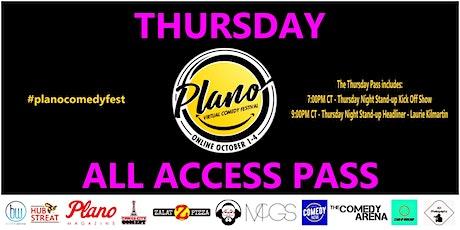Plano Virtual Comedy Festival - Thursday All Access Pass tickets