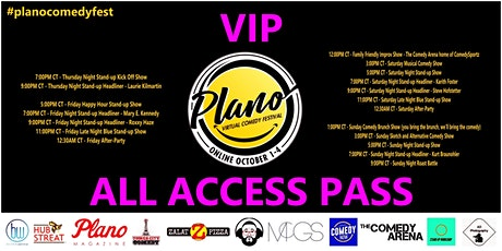Plano Virtual Comedy Festival - VIP All Access Pass tickets