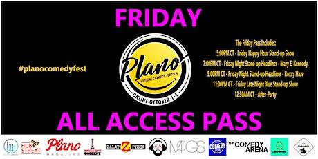 Plano Virtual Comedy Festival - Friday All Access Pass tickets